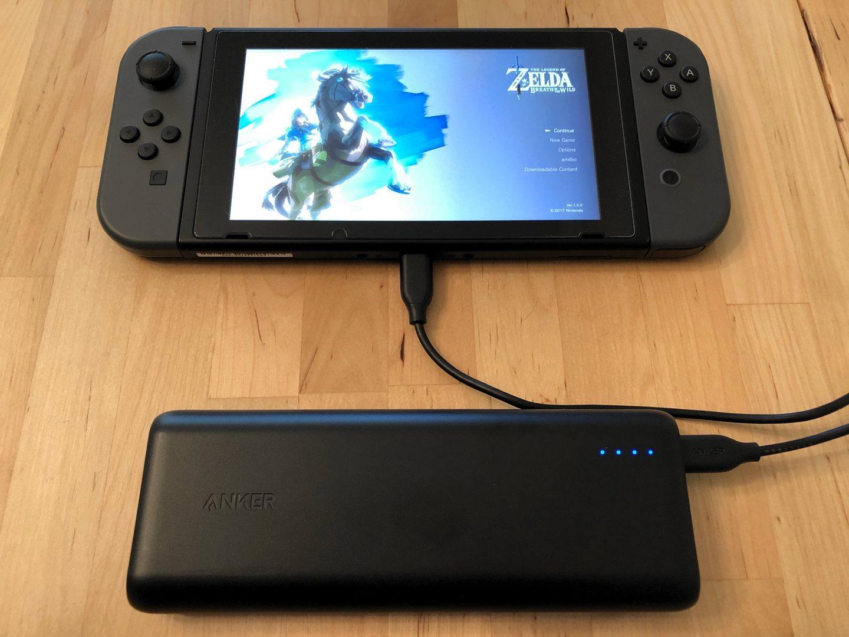 Anker PowerCore Speed 20000 PD con el interruptor de Nintendo