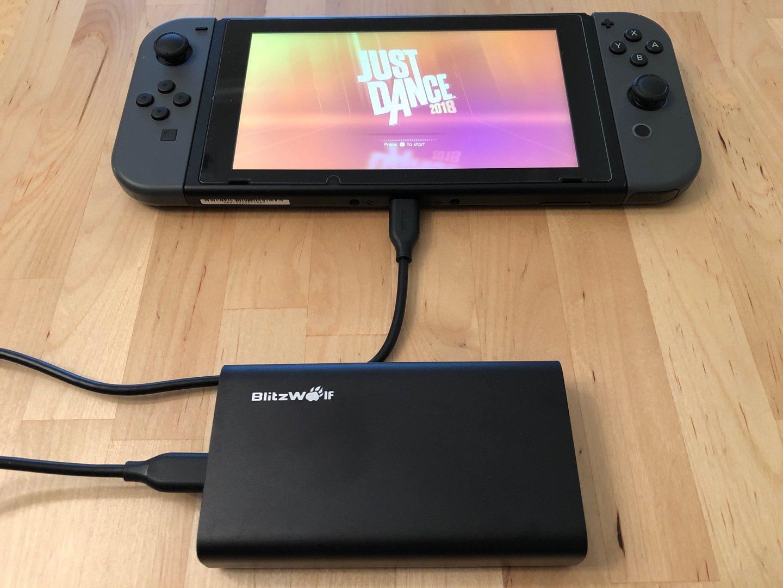 BlitzWolf BW-PF2 con Nintendo Switch.