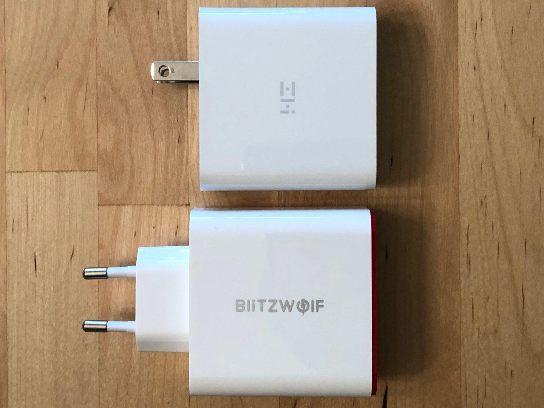 Top: ZMI Power Plug Turbo. Abajo: BlitzWolf BW-PL4.