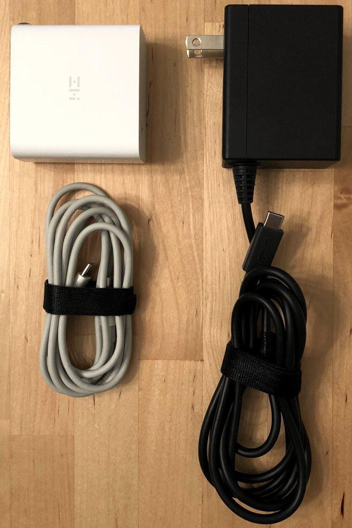 ZMI PowerPlug Turbo y Nintendo Switch AC Adapter.