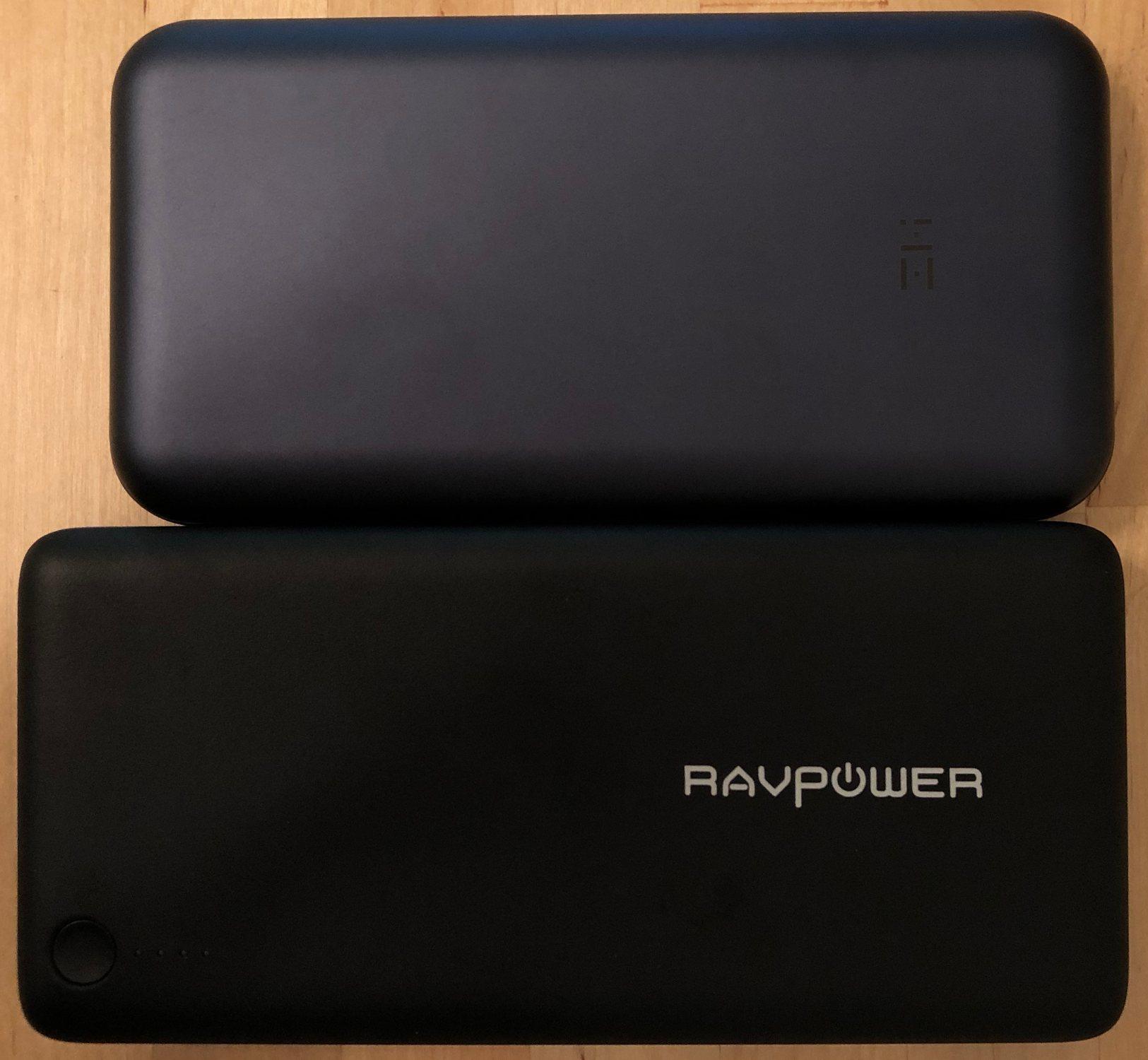 ZMI QB820 (arriba) y RAVPower 26800 USB-C PD (abajo)